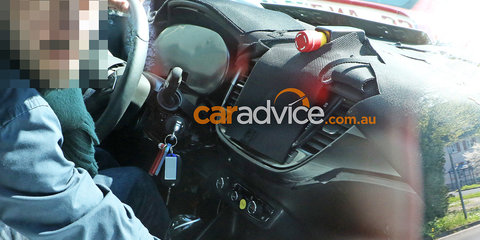 2016 Opel Meriva spied again, interior shown in new shots