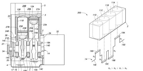 Honda patents engine design with varying cylinder displacement