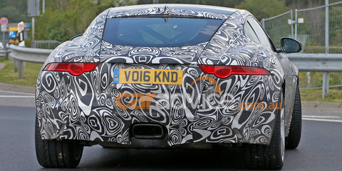 2017 Jaguar F-Type spied with four-cylinder engine