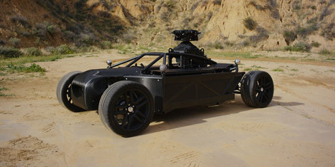 Meet the Blackbird, an adjustable driving rig used for filming car scenes... without the car