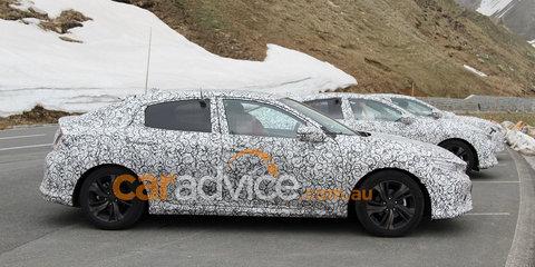 2017 Honda Civic hatch spied