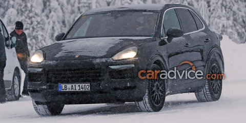 2018 Porsche Cayenne spied in winter testing - UPDATE