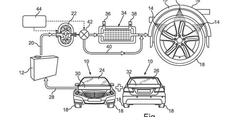 Mercedes-Benz patents water-cooled tyre system