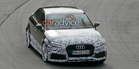 2017 Audi RS3 sedan spied