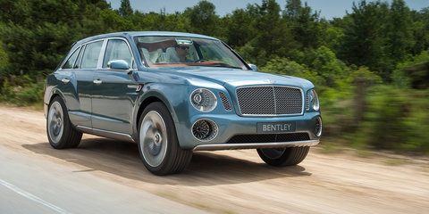 Bentley Bentayga v Bentley EXP 9F Concept:: styling face-off