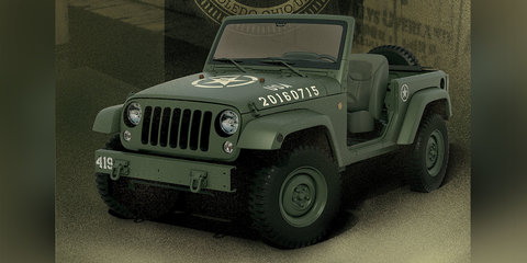 Jeep Wrangler Salute concept:: brand celebrates Willys MB's 75th birthday