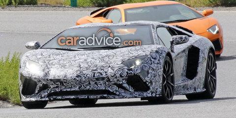 2017 Lamborghini Aventador facelift spied