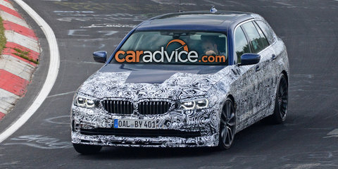 2017 Alpina B5 Touring spied at the Nurburgring