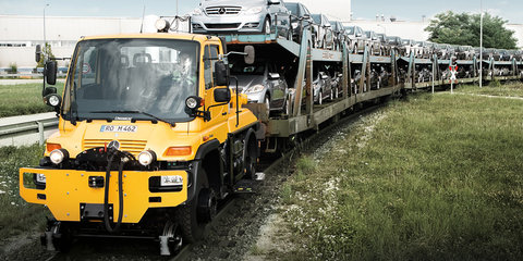 Mercedes-Benz Unimog hits the track(s)