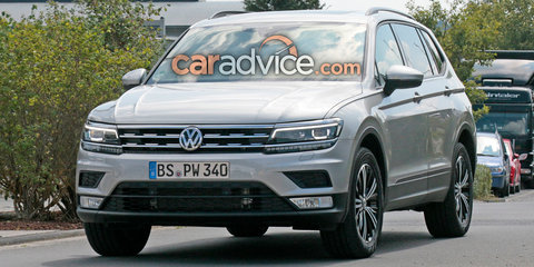 2017 Volkswagen Tiguan XL spied completely undisguised