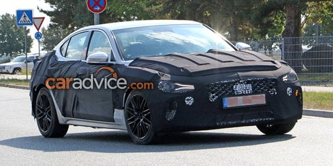 2017 Genesis G70 spied testing: Hyundai's luxury mid-sizer sneaks out