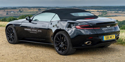 Aston Martin DB11 Volante previewed ahead of 2018 launch