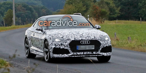 2018 Audi RS5 coupe spied with less camouflage