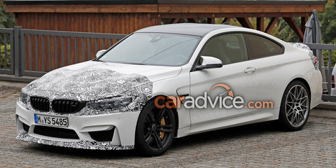 2017 BMW M4 facelift spied again