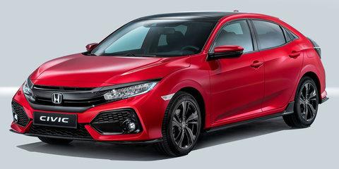 2017 Honda Civic hatch unveiled in European trim