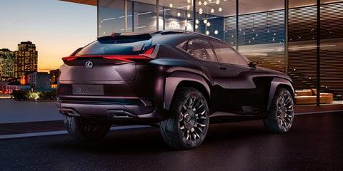 Lexus UX Concept: rear revealed, full debut coming in Paris