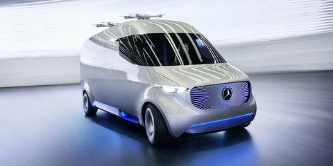 Mercedes-Benz Vision Van: EV concept debuts with delivery drones