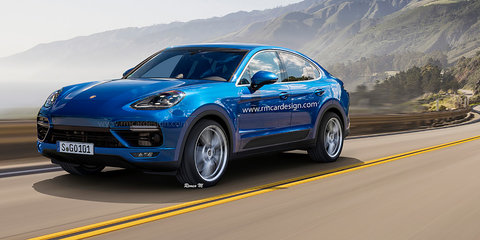 Porsche Cayenne Coupe rendering puts Panamera on stilts