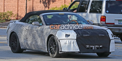 2017 Ford Mustang facelift spied
