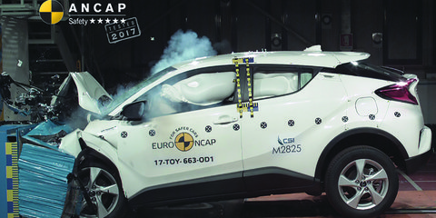 2017 Toyota C-HR gets five-star ANCAP safety rating
