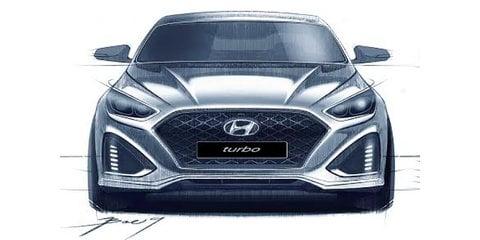 2018 Hyundai Sonata facelift sketches surface online
