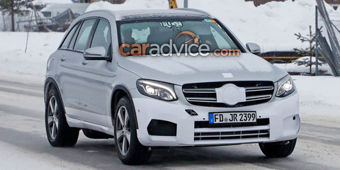 2018 Mercedes-Benz 'EQC': mule for electric SUV spied testing