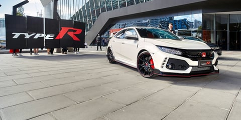 2017 Honda Civic Type R touches down in Melbourne for F1 showing