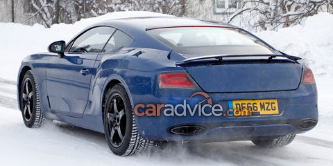 2018 Bentley Continental GT coupe spied with less camouflage