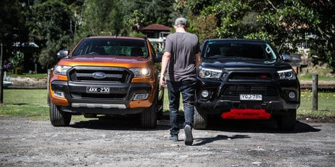 Ford Ranger Wildtrak v Toyota HiLux TRD comparison