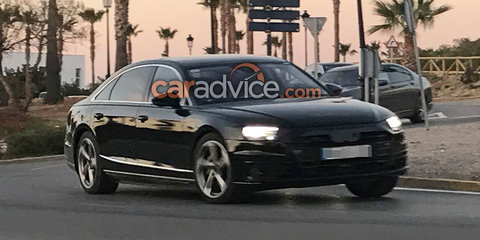 2018 Audi A8 spied almost disguise free
