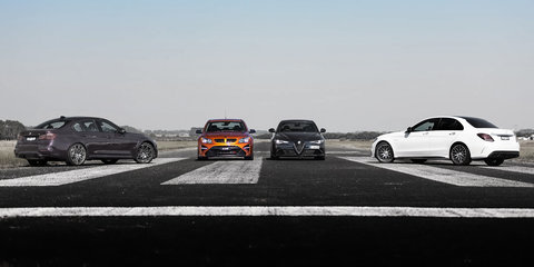 Drag Race: Australia vs The World: HSV GTSR W1 v BMW M3 Competition v Mercedes-AMG C63 S v Alfa Romeo Giulia QV