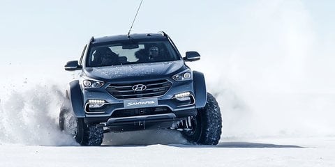 Modified Hyundai Santa Fe becomes first car to cross Antarctica