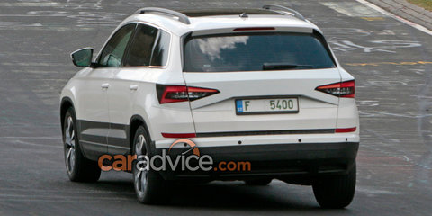 2018 Skoda Yeti/Karoq spied with unique body panels