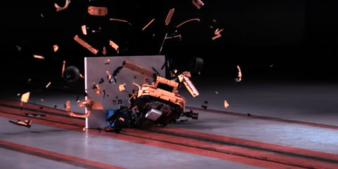 Porsche 911 GT3 RS Lego crash test is weirdly satisfying