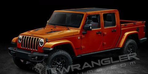Jeep Wrangler Pickup ute rendered