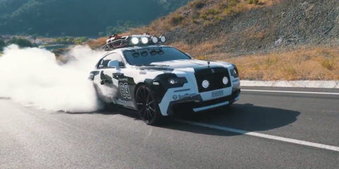 Jon Olsson smokes tyres in his 604kW Rolls-Royce Wraith - Video