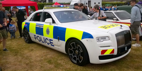 Rolls-Royce Ghost Black Badge gets UK police livery