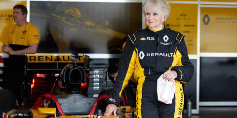 79-year-old woman becomes oldest person to drive an F1 car