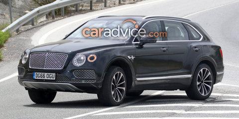 2018 Bentley Bentayga plug-in hybrid spied