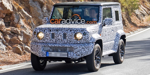 2018 Suzuki Jimny spied testing, design leaked in presentation