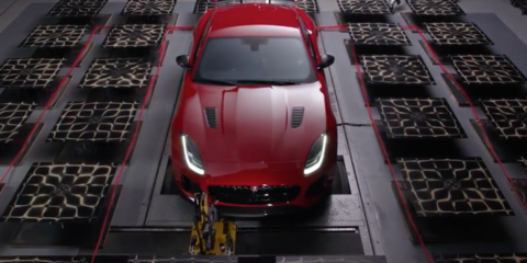 Jaguar F-Type SVR makes art with its exhaust