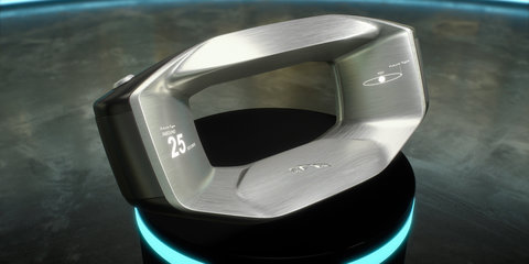 Jaguar reveals Sayer, the steering wheel of the future