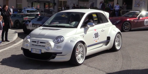 Monster bambino: Fiat 500 gets Alfa 4C engine, widebody makeover