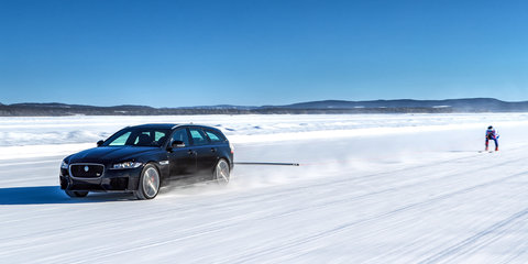 Jaguar XF Sportbrake breaks 'fastest towed speed on skis' record