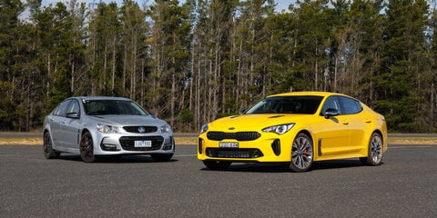 2018 Kia Stinger 330Si v Holden Commodore SS-V Redline comparison