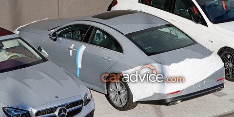 2018 Mercedes-Benz CLS spied almost free of disguise