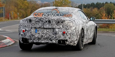 2018 BMW M8 spied inside and out