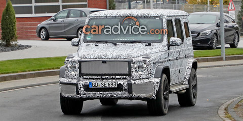 2018 Mercedes-Benz G-Class spied during testing