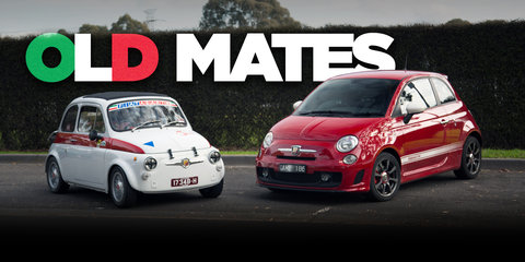 Abarth 595 Old v New: 1970 v 2017