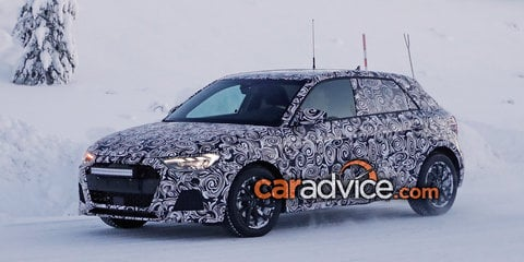 2019 Audi A1 snapped during winter testing
